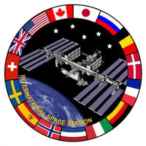 Official NASA International Space Station (ISS) Lapel Pin with National Flags